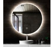 Saniclear Circle ronde spiegel met LED verlichting 80 cm