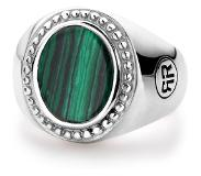 Rebel & Rose Rebel and Rose RR-RG018-S Ring zilver Women Oval Malachite 58
