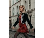 Colourful Rebel Denise Velvet Militairy Jacket