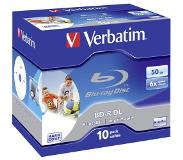 Verbatim 1x10 BD-R Blu-Ray 50GB 6x Speed printable Jewel Case