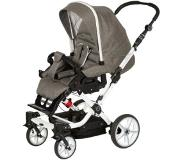 Hartan Kinderwagen Topline S met handrem Jolly Sheep (519) frame wit