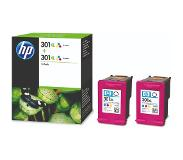HP 301XL 3 kleuren Twin Pack (D8J46AE)