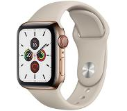 Apple Watch Series 5 GPS + Cell 40mm Steel Case Gold Stone Band
