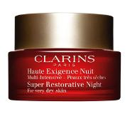 Clarins Super Restorative night cream - zeer droge huid 50 ML (Dames)
