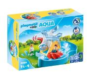 Playmobil 1 2 3 AQUA waterrad met carrousel 70268
