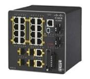 Cisco switch: 16x 10/100Base-T Ethernet, 2x GE Combo, 4x PoE+, LAN Base, IEEE 1588 - Zwart