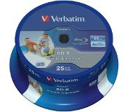 Verbatim 1x25 BD-R Blu-Ray 25GB 6x Speed DL Wide Printable CB