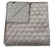 Unique living Peggy - Bedsprei - Tweepersoons - 220x220 cm - Light grey