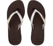 Reef Slipper Reef Star Cushion Sassy Brown White