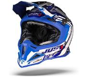 JUST1 J12 Flame Blauw Crosshelm - Motorhelm - Maat S