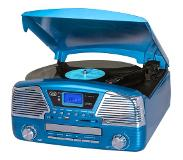 Trevi Platenspeler Bluetooth CD USB Blauw