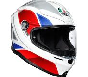 AGV K6 Max Vision Hyphen White Red Blue Integraalhelm - Motorhelm - Maat XL