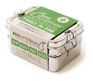 Ecolunchbox Eco Lunchbox - RVS - 3 bakjes in 1