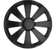 Car Plus wieldoppen Race 16 inch ABS zwart set van 4