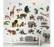 Walltastic Muursticker Box Jungle Adventure Walltastic - Kinderkamer Muurstickers - 65 stickers
