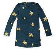 Snurk Long Sleeve Dress SNURK Kids Christmas Bling Blue-Maat 116