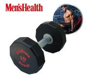 Men's Health Urethan Dumbell Zwart/rood