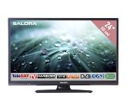 Salora 24LED9109CTS2, 24in/61cm travel TV 12/230V, zwart