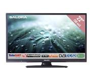 Salora 22LED9109CTS2, 22in/56cm travel TV 12/230V, zwart