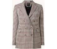 Ted Baker Beechi double-breasted blazer met pied-de-pouele dessin