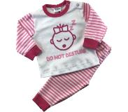 Beeren Babypyjama Do Not Disturb Roze/wit Maat 50/56