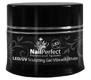 Nail Perfect Led/Uv Sculpting Gel Vibrant White 14Gr