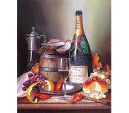 Dielay Schilderen op Nummer - Champagne - Painting by Numbers - 40x30 cm - Complete Set - Dielay