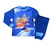 Super Wings Pyjama Fleece Jongens Donkerblauw Maat 92