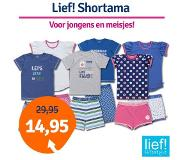 Lief Lief! Boys shortama 40013 Blue Check-98/104