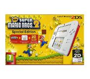 "Nintendo 2DS + New Super Mario Bros. 2 3.53"" 1GB Touchscreen Wi-Fi Rood, Wit draagbare game console"