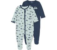 Name it Setje 2 pyjama's/boxpakjes ensign blue - - Maat 62