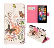 Carryme Vlinders booktype hoes Nokia Lumia 630 / 635