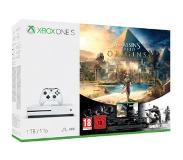 Microsoft Xbox One S 1TB Assassin's Creed Origins Bundle 1000GB Wi-Fi Wit