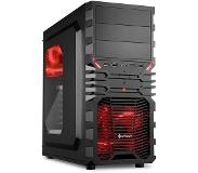 Sharkoon VG4-W computerbehuizing Midi-Tower Black,Red