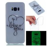 Carryme Noctilucent TPU Hoesje Samsung Galaxy S8 - I Love You Patroon