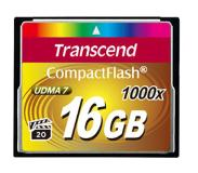 Transcend CompactFlash Card 1000x 16GB 16GB CompactFlash flashgeheugen