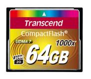 Transcend CompactFlash Card 1000x 64GB 64GB CompactFlash Klasse 6 flashgeheugen