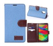 Carryme Lichtblauwe denim booktype hoes Samsung Galaxy Note 4