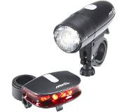Red Cycling Products RCP Bright LED Light fietsverlichting zwart 2017 Batterijverlichting sets
