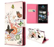 Carryme Vlinders booktype hoes Nokia Lumia 830