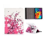Carryme Pink blossom 360 graden hoes Samsung Galaxy Tab 4 10.1