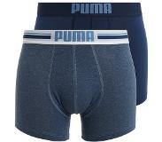 Puma PLACED LOGO 2-PACK DENIM (Navy, Blauw, Extra large)
