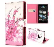 Carryme Roze bloesem booktype hoes Nokia Lumia 830