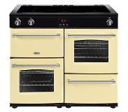 Belling Farmhouse 100Ei Range cooker Zone van inductiekookplaat Crème