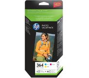 HP 364 serie foto value pack, 50 vel/10 x 15 cm