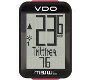 VDO M3.1 WL Wireless bicycle computer Zwart, Rood