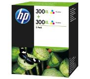 HP 300XL originele high-capacity drie-kleuren inktcartridges, 2-pack