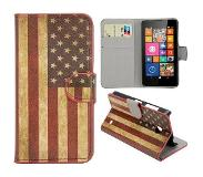 Carryme Amerikaanse vlag booktype hoes Nokia Lumia 630 / 635