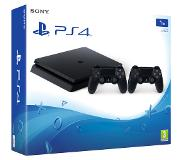 Sony PlayStation 4 Slim 1TB + 2 Dualshock 4 V2 Zwart 1000 GB Wi-Fi
