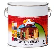 Oaf Tuinbeits Transparant Antraciet 750 ml